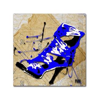 Roderick Stevens 'Blue Strap Boot' Canvas Art
