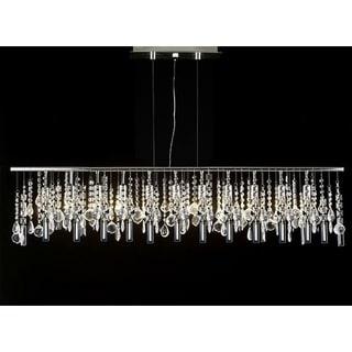 Contemporary Modern Linear Crystal 11-light Chandelier
