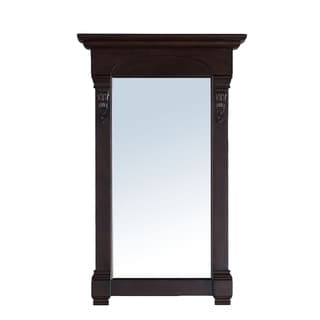 James Martin 26-inch Brookfield Single Mirror, Burnished Mahogany