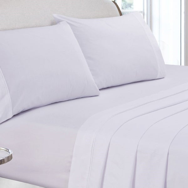 400 Thread Count Cotton Percale Deep Pocket Sheet Set Or Pillow Pair