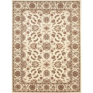 Admire Home Living Amalfi Oriental Ivory Area Rug (5'5 x 7'7)