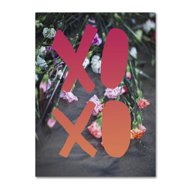 Leah Flores 'XOXO' Canvas Art - Multi