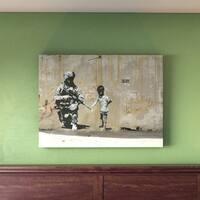 Porch & Den Banksy 'Peace' Canvas Art