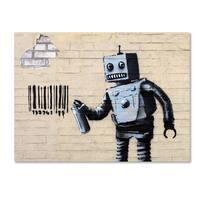 Banksy 'Robot' Canvas Art