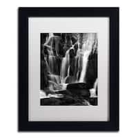 Philippe Sainte-Laudy 'White Waterfall' Framed Canvas Art