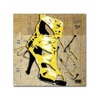 Roderick Stevens 'Yellow Strap Boot' Canvas Art