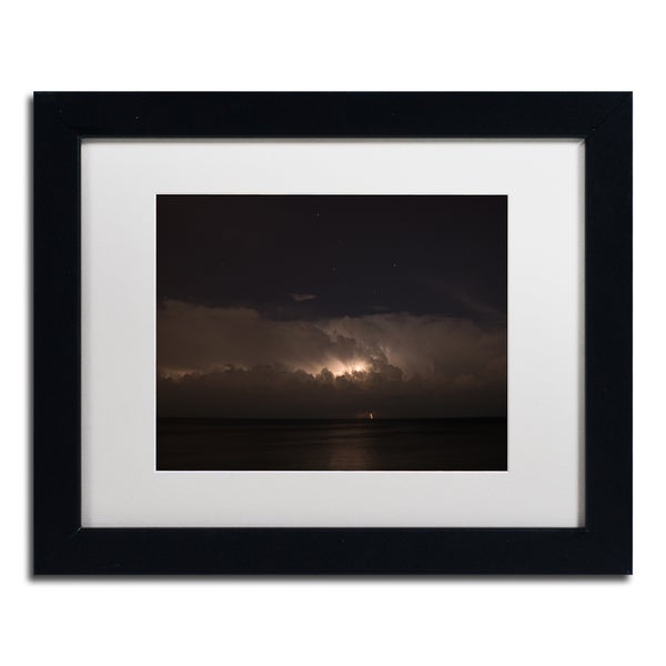 Kurt Shaffer 'Big Dipper Thunderstorm' Framed Canvas Art