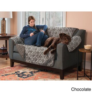 Home Fashion Designs Luxe Collection Printed Reversible Loveseat Protector