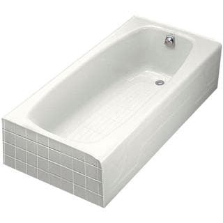 Kohler Dynametric 5.5 Foot Right-hand Drain Cast Iron Integral Apron Bathtub in White