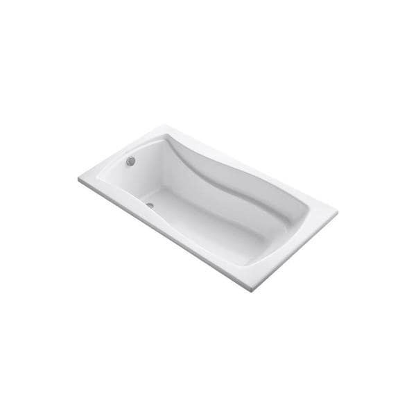 kohler mariposa 5 5 foot reversible drain drop in acrylic soaking tub