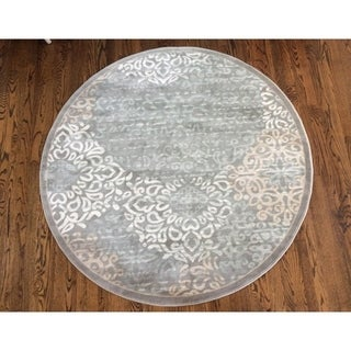 Porch & Den Pearl District Burnside Grey Area Rug (5'3 Round)