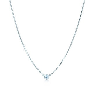 Suzy Levian 14k Gold 1/4 ct Bezel Diamond Solitaire Necklace