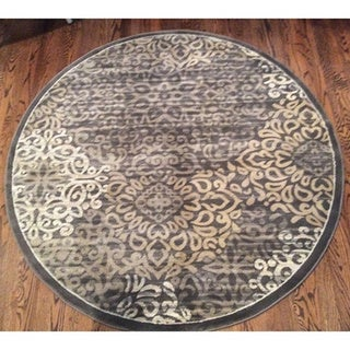 Admire Home Living Plaza Mia Brown Area Rug (5'3 Round)