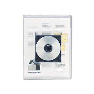 Universal Deluxe Clear Locking Project File with CD-ROM Holder (2 Packs of 25 Files)