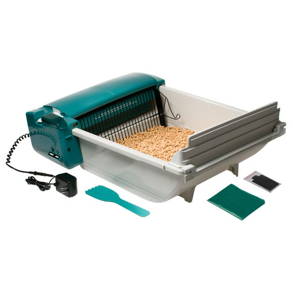 Pet Zone SmartScoop Green Cat Litter Box