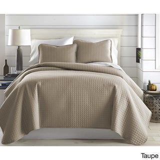 Oversized Solid 3-piece Quilt Set by Southshore Fine Linens (Taupe - Full - Queen)