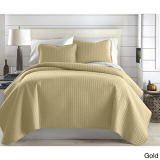 Oversized Solid 3-piece Quilt Set by Southshore Fine Linens (Gold - Twin - Twin XL)