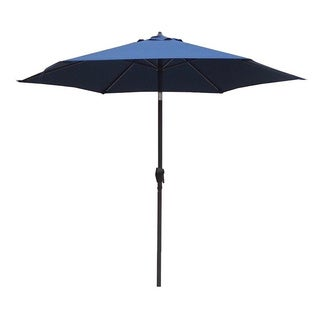 Lauren & Company 9-foot Pacific Blue Steel Crank and Tilt Market Umbrella