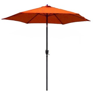 Lauren & Company 9-foot Tuscan Orange Steel Crank and Tilt Market Umbrella