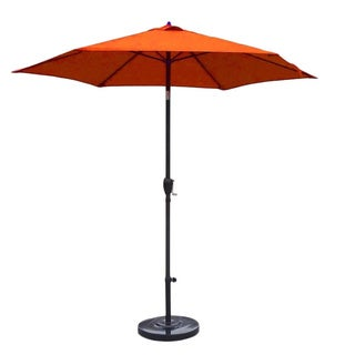 Lauren & Company 9-foot Tuscan Orange Steel Crank and Tilt Market Umbrella with Stand