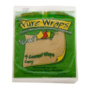 The Pure Wraps, Curry Coconut Wraps, 2-ounce [Case of 6]