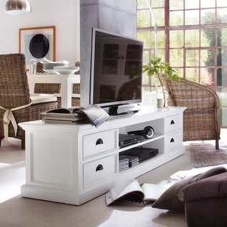 The Gray Barn Ora Mahogany Large Entertainment Center with 4 Drawers - 70,87 x 17,72 x 17,72