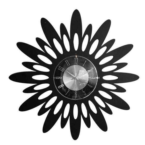 Mid Century Modern 20-inch black Sunset Swoon Clock