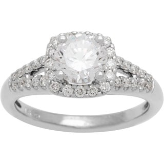 Boston Bay Diamonds 14k White Gold 1 1/3ct TDW Diamond Halo Engagement Ring (G-H, SI1-SI2)
