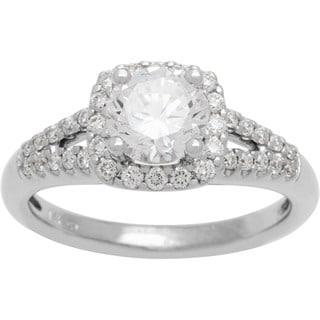 Boston Bay Diamonds 14k White Gold 1 1/3ct TDW Diamond Halo Engagement Ring (G-H, SI1-SI2)