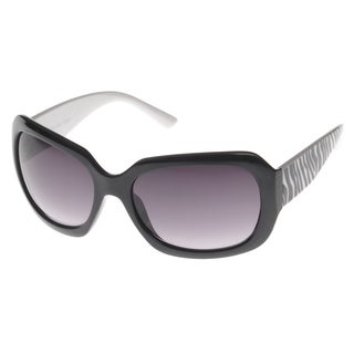 EPIC Eyewear 'Belva' Black Rectangle Fashion Sunglasses