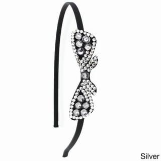 Kate Marie 'Adel' Rhinestone Ribbon Bow Headband