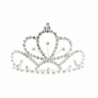 Kate Marie 'Lani' Rhinestone Crown Tiara Hair Pin