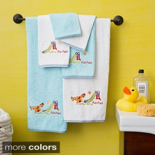 Lucia Minelli Kid's Embroidered Fun Park Design 6-piece Soft Turkish Cotton Towel Set