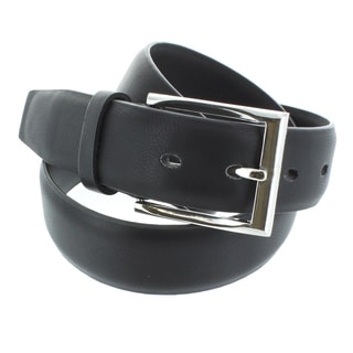 Faddism Men's Genuine Leather Silver Buckle Belt