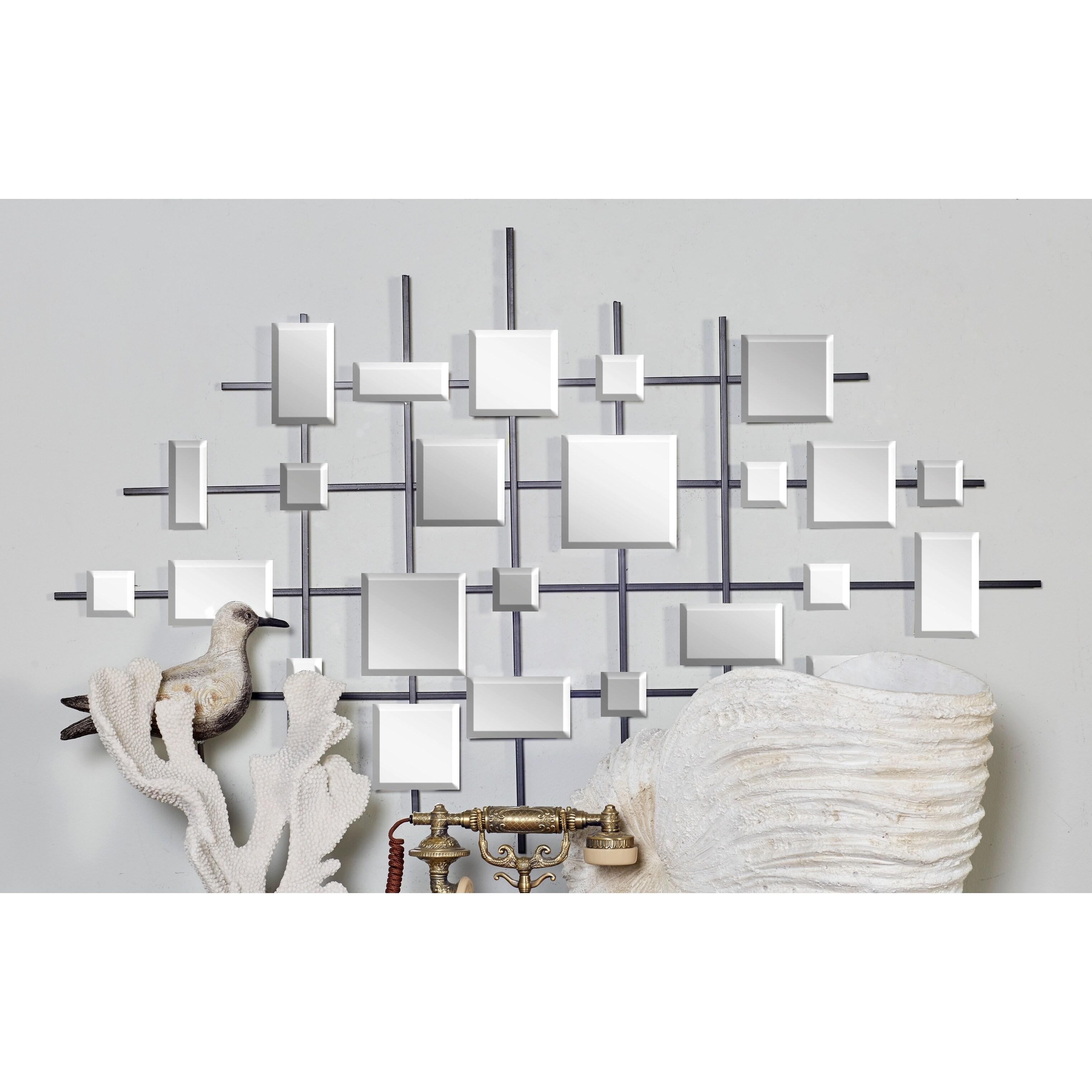 Studio 350 44-inch Contemporary Mirror Montage Wall Sculp...