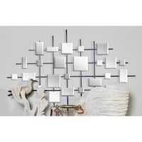 44-inch Contemporary Mirror Montage Wall Sculpture