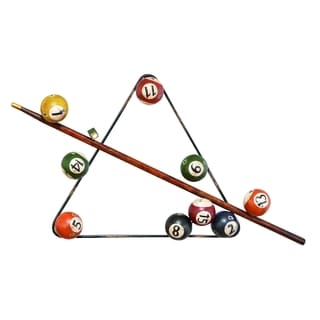 Traditional Iron Billiards Montage Wall Sculpture