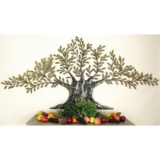 94-inch Metal Traditional Living Tree Wall Sculpture