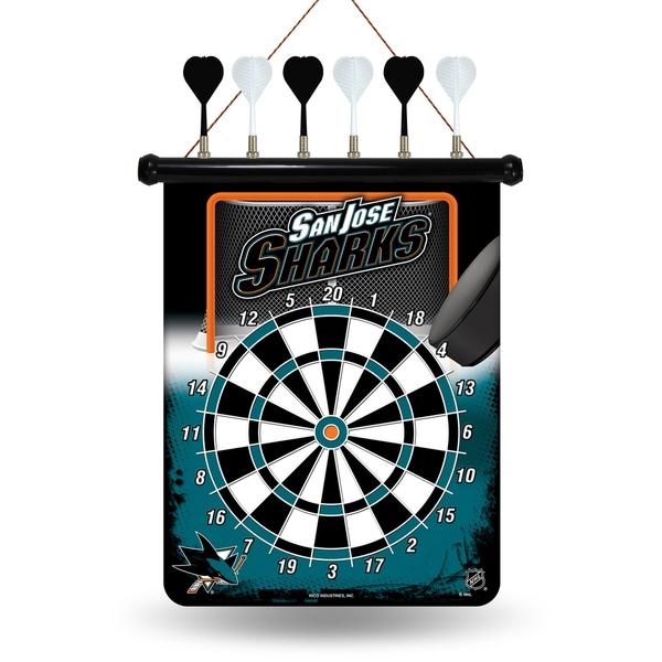 San Jose Sharks Magnetic Dart Set