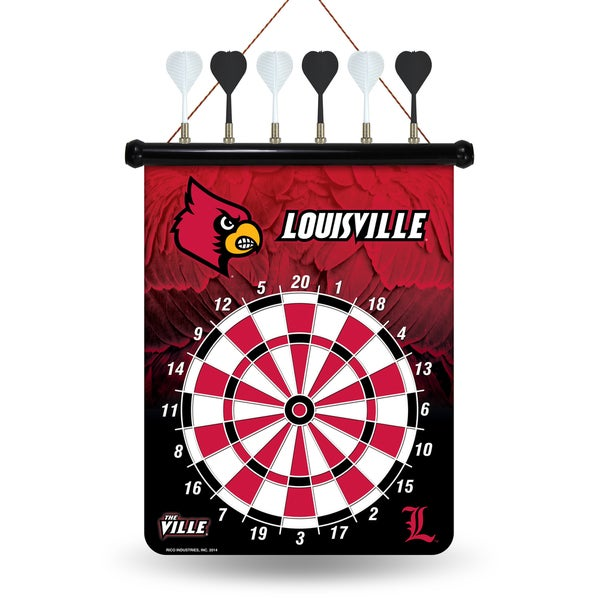 Louisville Cardinals Magnetic Dart Set