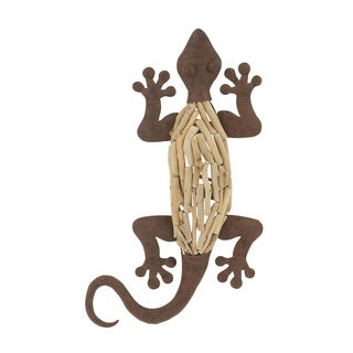 25-inch Traditional Lizard Wall Sculpture