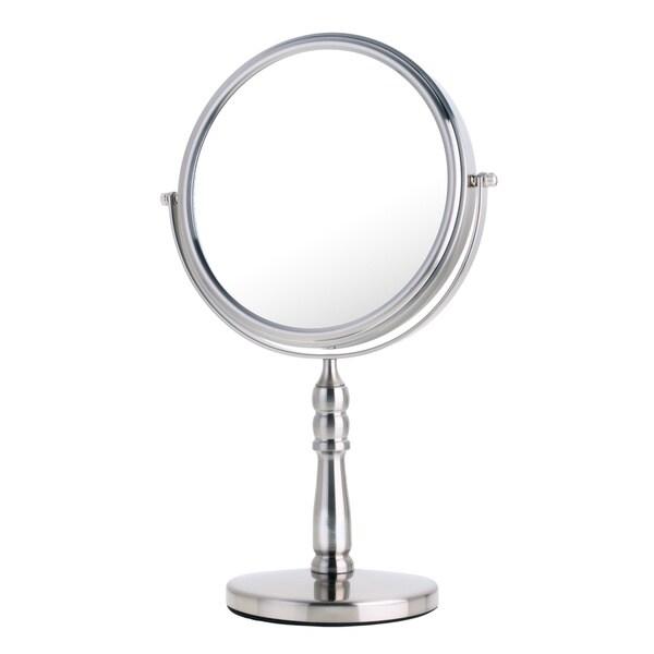 Shop Danielle Mirror Vanity Satin Nickel 10x Mirror Free