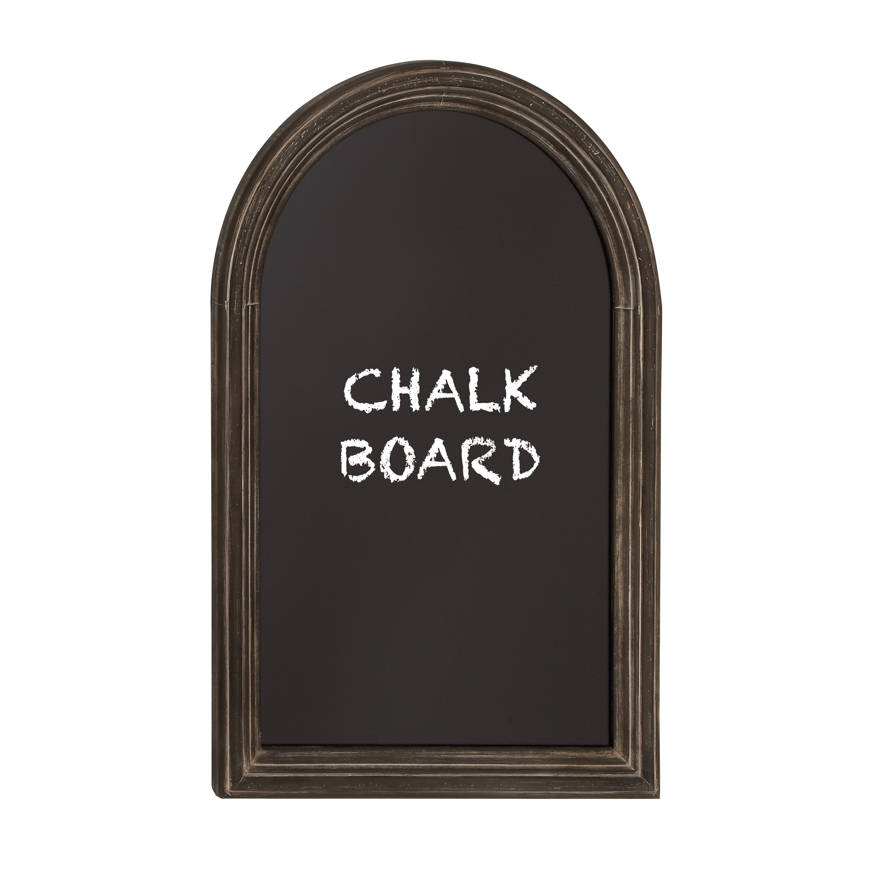 36-inch Curved Top Chalkboard With Black Framing