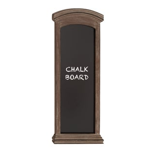 Oliver & James Buri Brown Rectangular Chalkboard with Cut Edged Black Framing