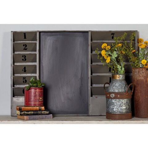 36-inch Industrial Inspired 12-pocket Wall Memo Board