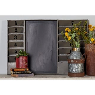 36-inch Industrial Inspired 12-pocket Wall Memo Board (Option: Black)