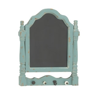 23-inch 4-Hook Sea Green Chalkboard