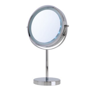 Danielle 5x/1x LED-Lighted Reversible Vanity Makeup Mirror