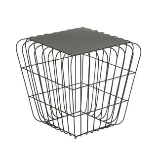 Squared Wire Side Table Black