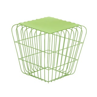 Squared Wire Side Table Green
